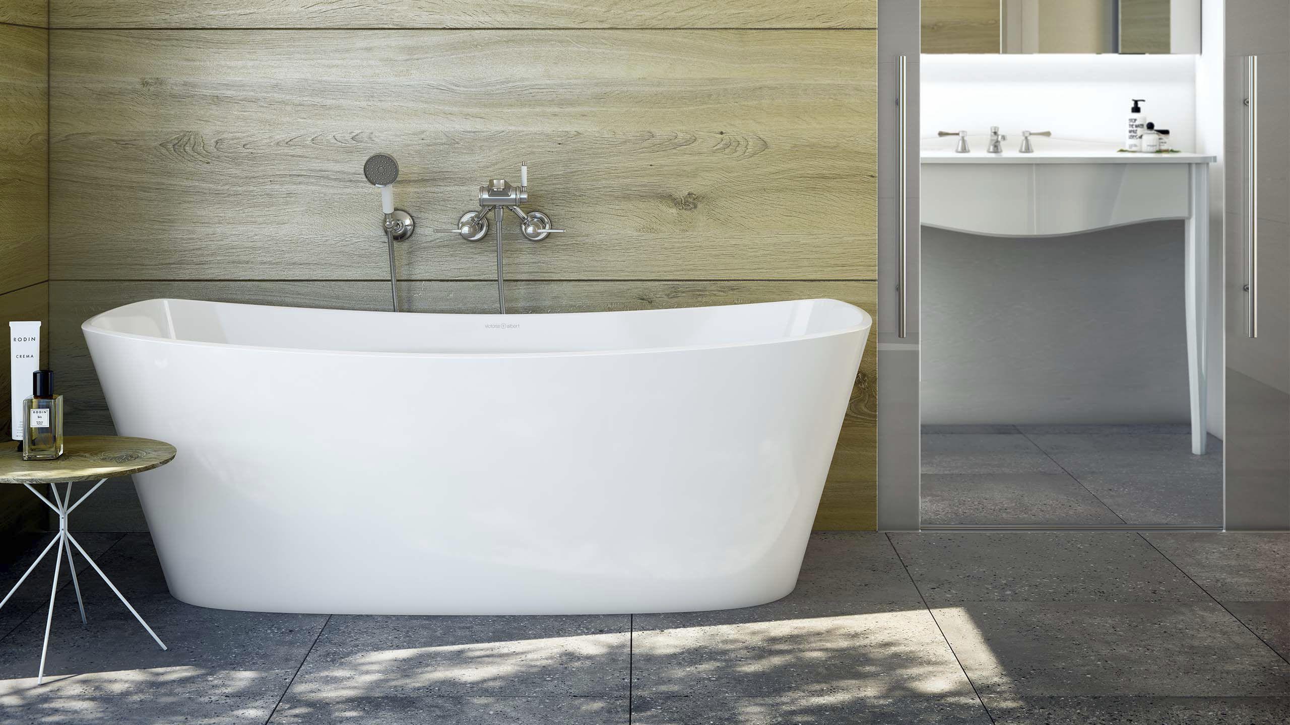 Vasca Da Bagno Resina : Vasca da bagno ad isola in resina in pietra calcarea doppia