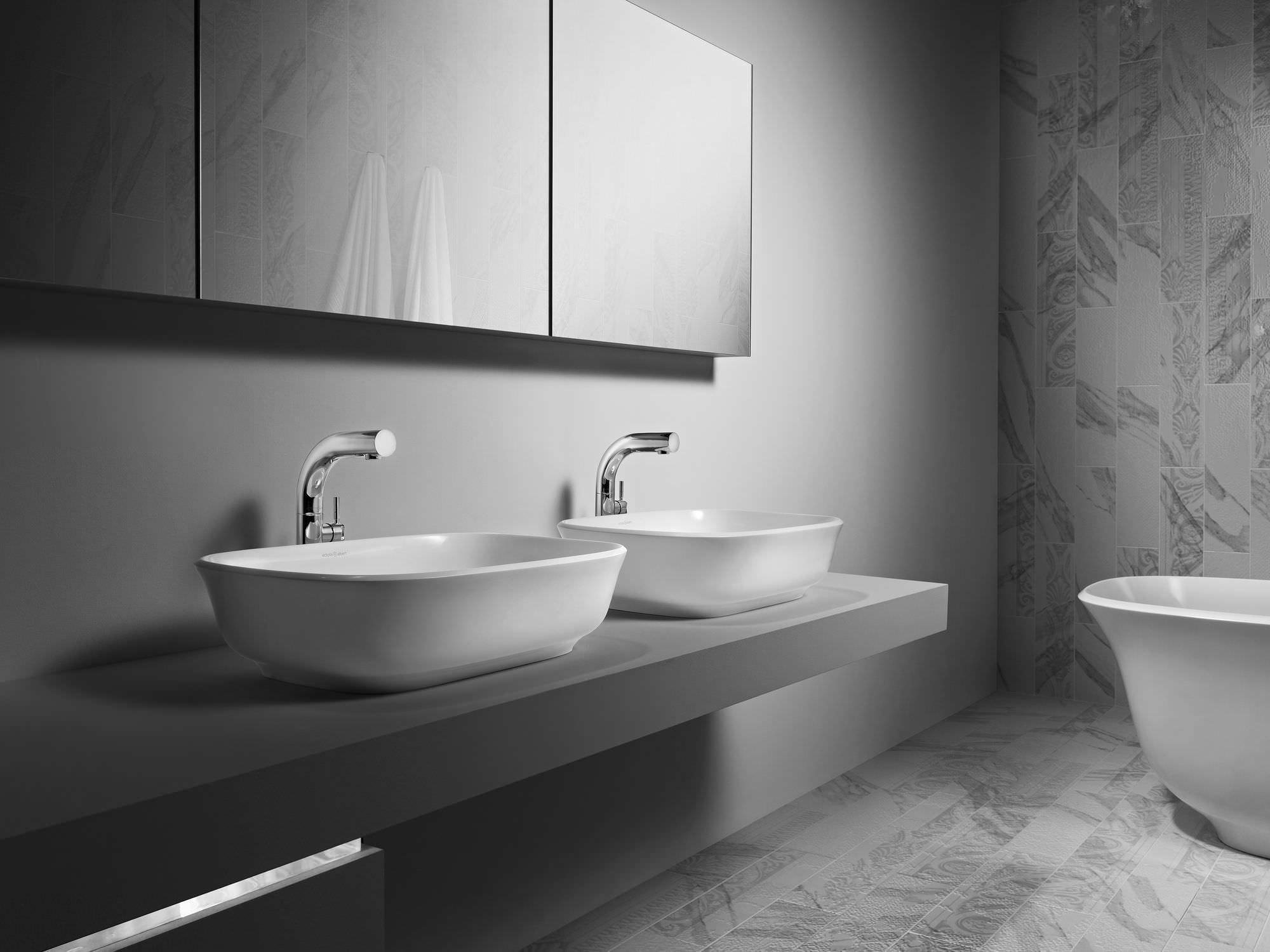 lavabo da appoggio in resina in pietra calcarea amiata victoria with lavabi in resina