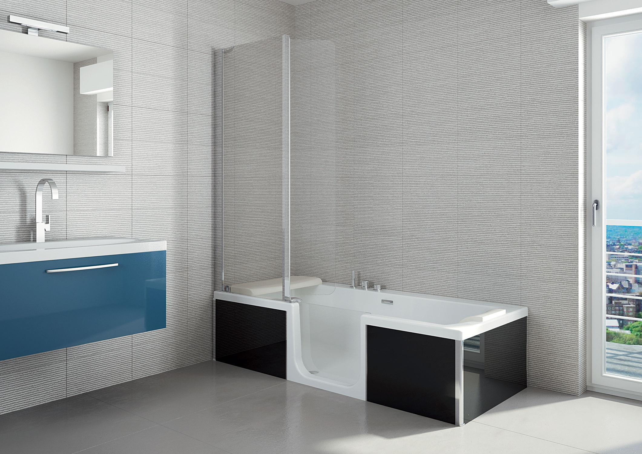 Vasca da bagno da appoggio / idromassaggio / per disabili - KINEDUO ...