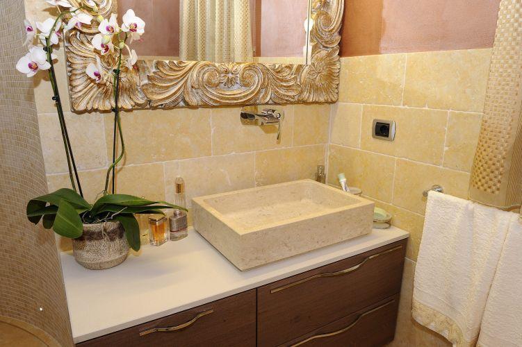Piastrella da bagno da pavimento da parete in cemento gold