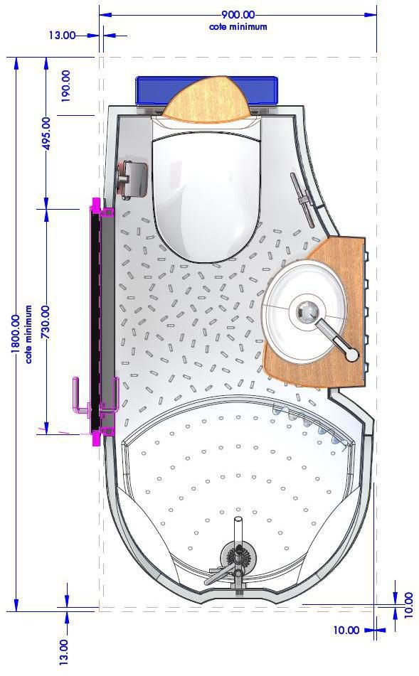 Bagno moderno / in ceramica / professionale / prefabbricato ...