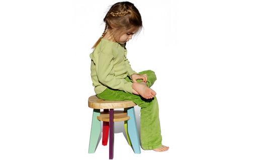 Sgabello in legno oliato per bambini pepin nonah
