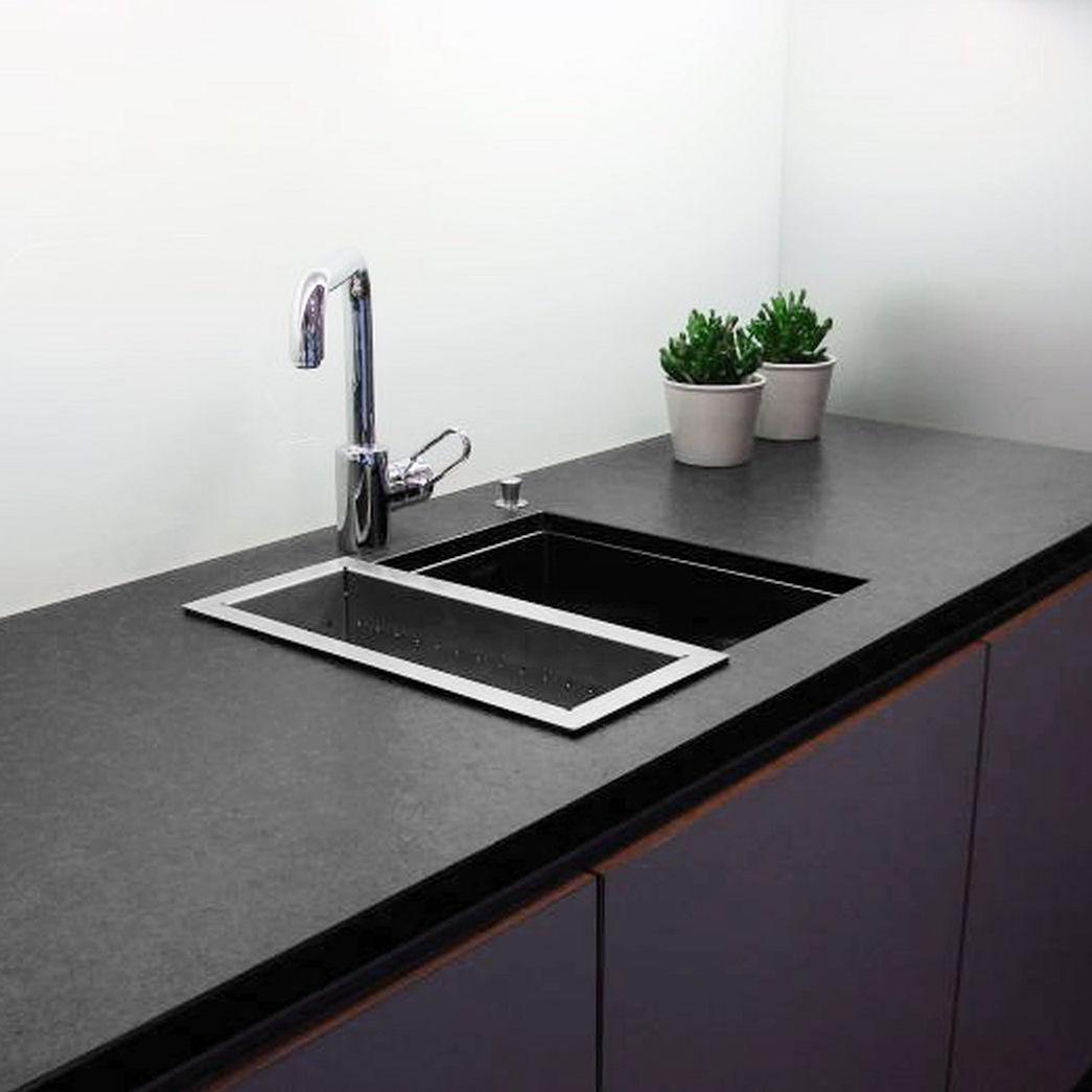 Piano di lavoro in ardesia / da cucina / nero - ITALIAN - Balfin srl