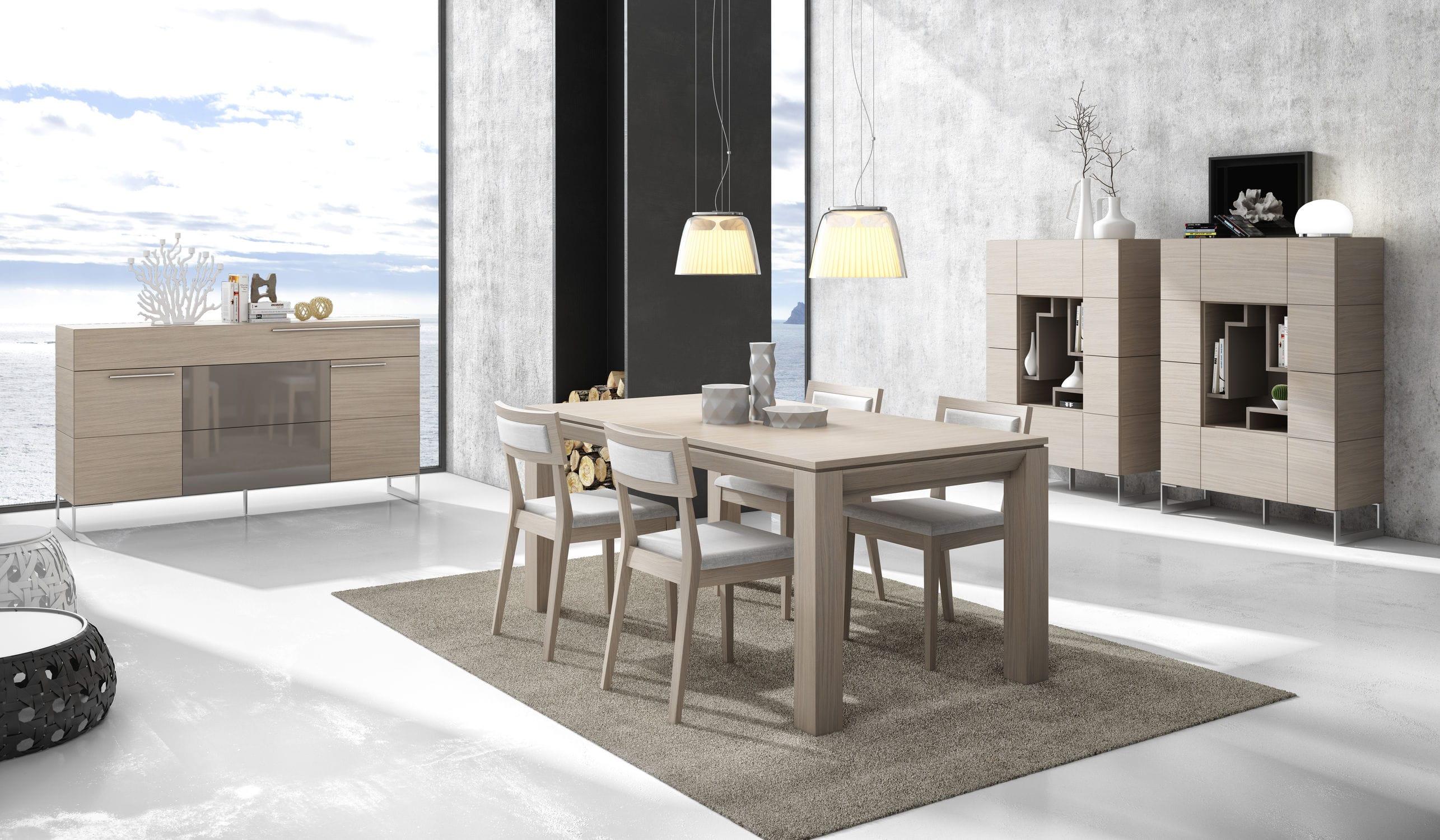 Tavolo Da Pranzo Moderno : Tavolo da pranzo moderno in legno rettangolare ginza : 322