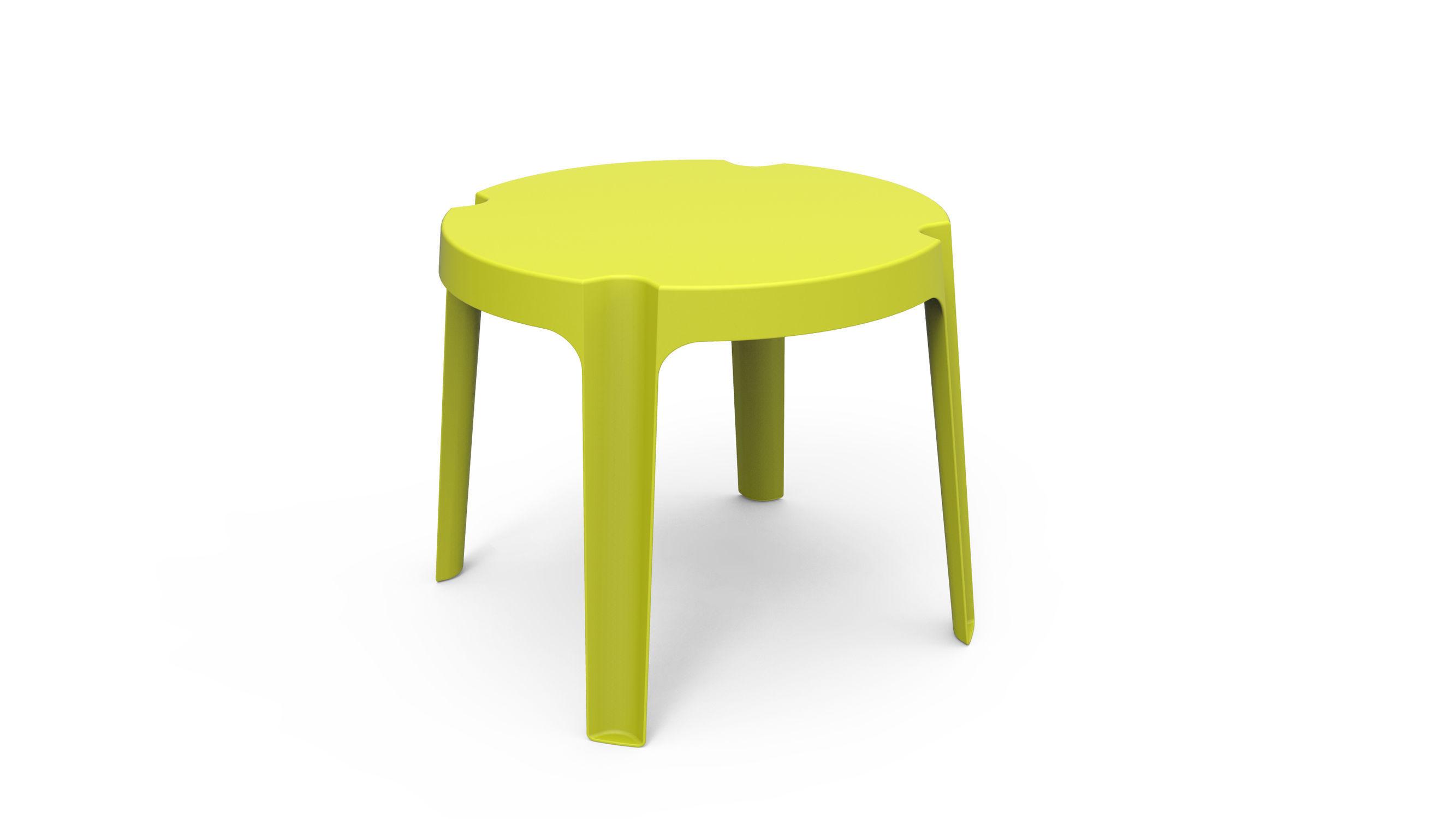 Sgabello moderno in plastica verde rita by joan gaspar