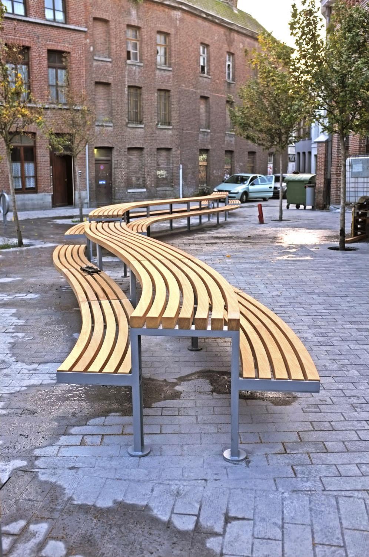 Tavolo da pic nic / moderno / in iroko / in acciaio galvanizzato ...