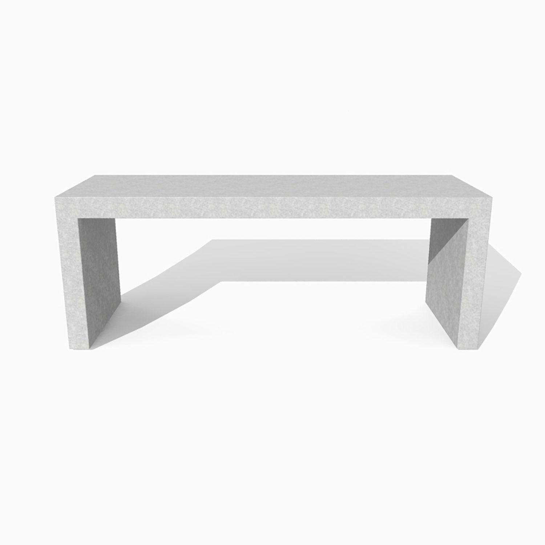 Tavolo moderno / in calcestruzzo / rettangolare / per spazio ...