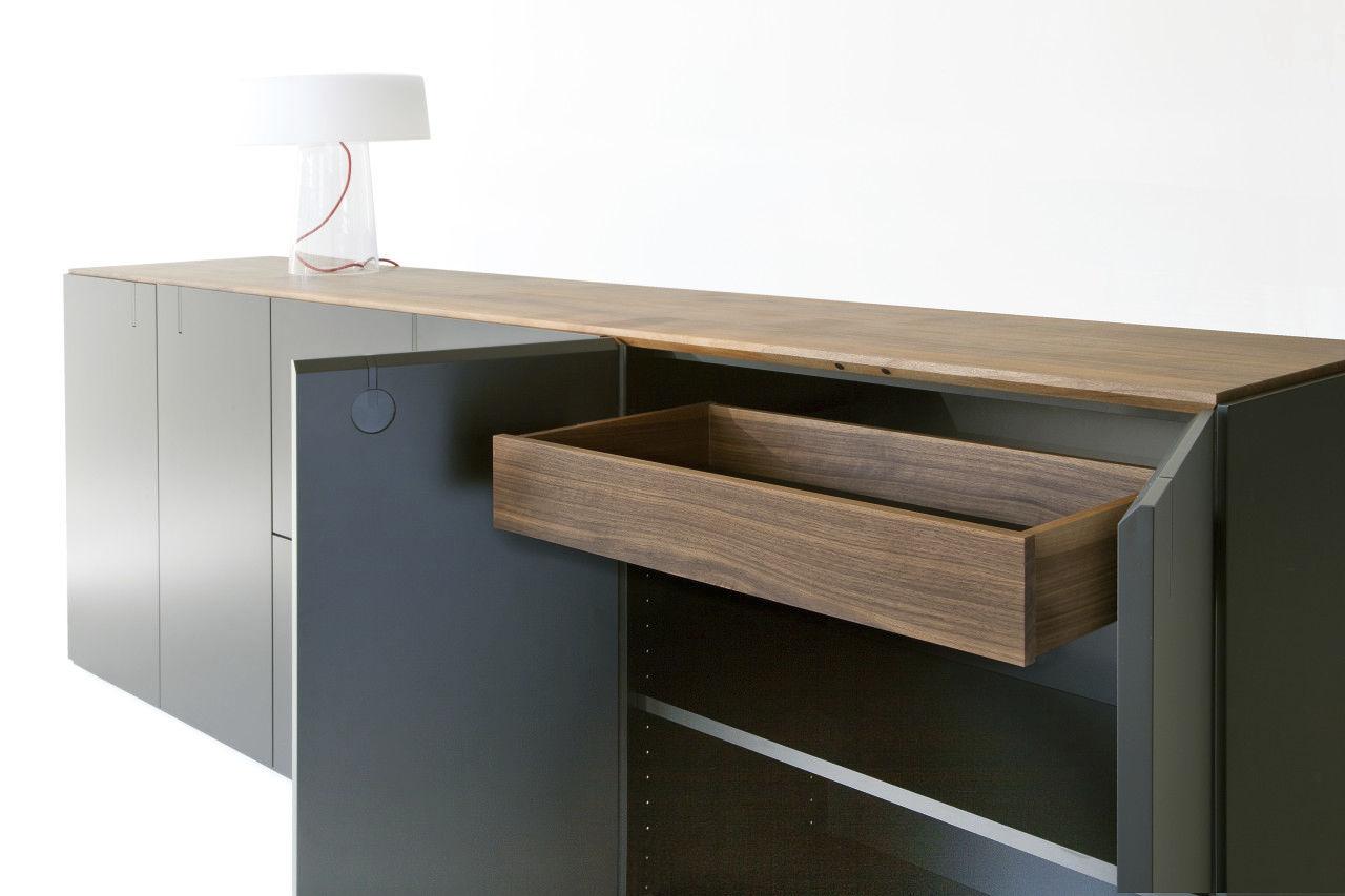 Credenza Moderna Nera : Credenza moderna in legno nera next mobimex