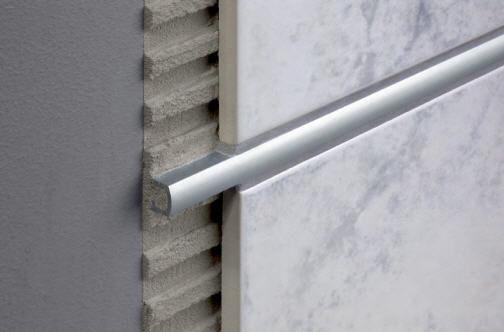 Profilo di separazione in alluminio per piastrelle duralis