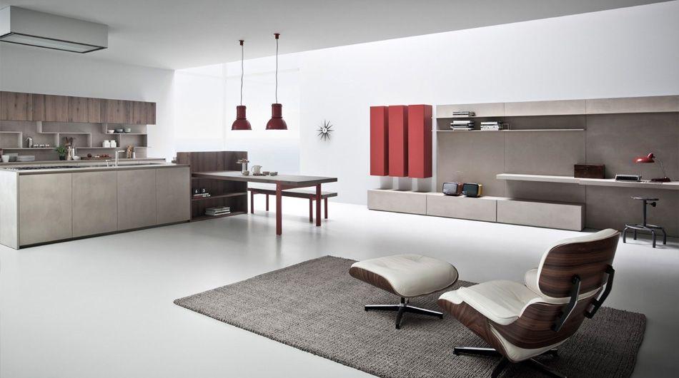 Mobile porta TV moderno / in legno - K LIVING - Zampieri Cucine
