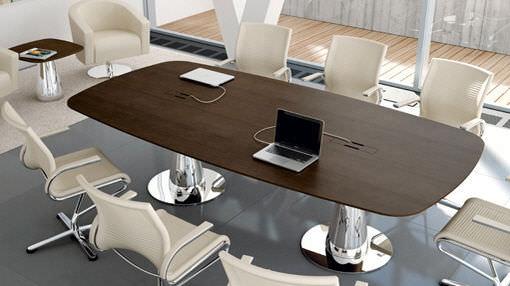 Tavolo da riunione moderno / in legno / tondo / ovale - METAR - Bralco