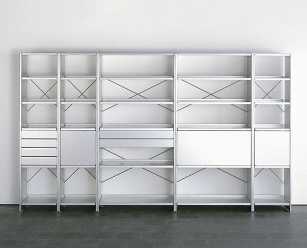 Scaffale moderno in alluminio by andreas christen lehni