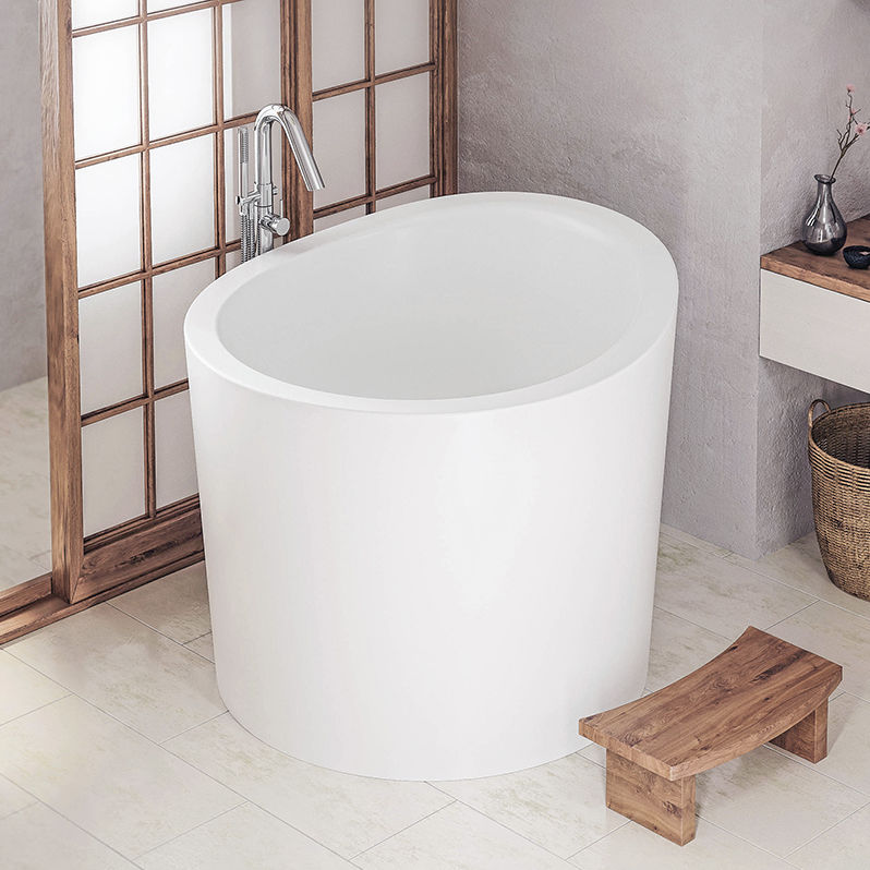 Vasca da bagno ad isola / rotonda / in Solid Surface / profonda ...
