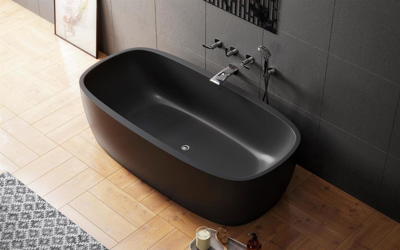 Vasca Da Bagno Stretta : Vasca da bagno ad isola in solid surface doppia coletta