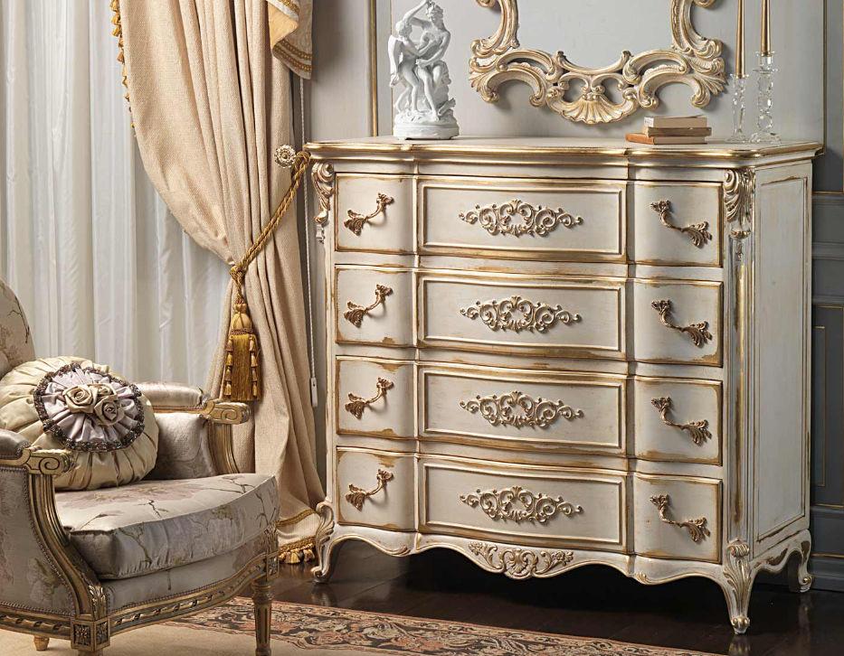Cassettone in stile Luigi XVI / bianco - WHITE AND GOLD - VIMERCATI ...