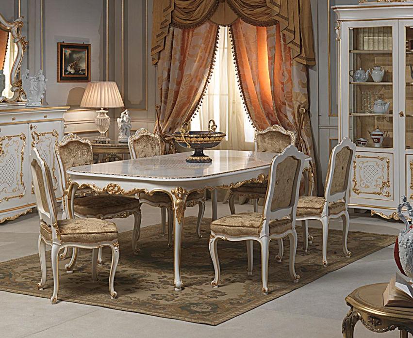 Tavolo in stile Luigi XVI / in legno dipinto / ovale - VENICE ...