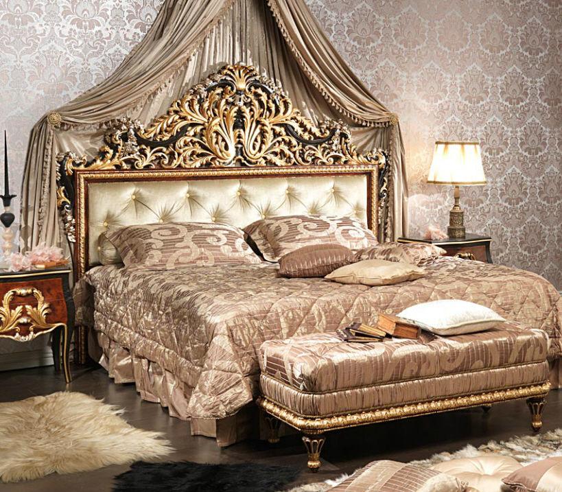 Letto standard / doppio / in stile Luigi XV / in legno - EMPERADOR ...
