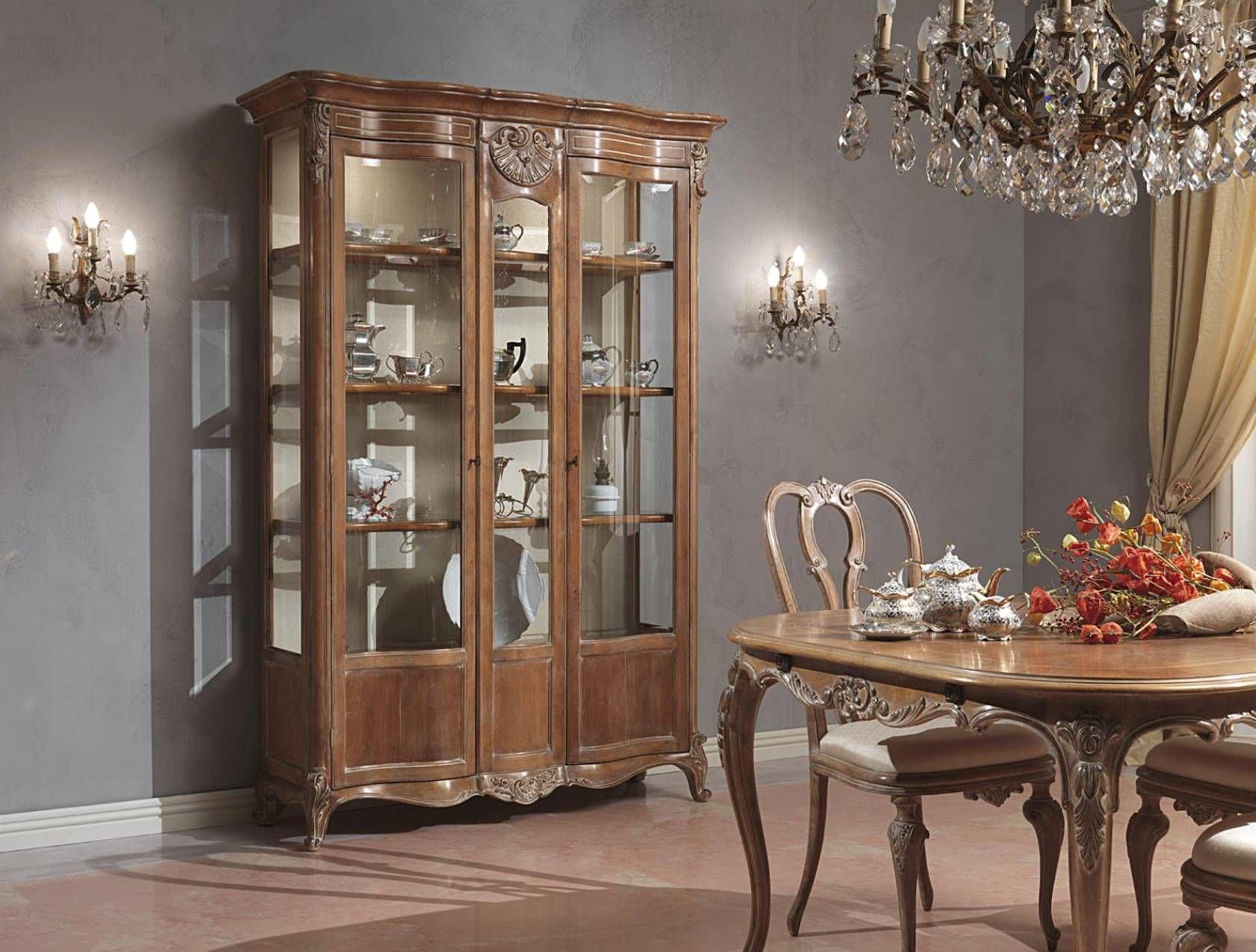 Credenza Con Alzata Classica : Credenza con alzata in stile legno paris vimercati meda