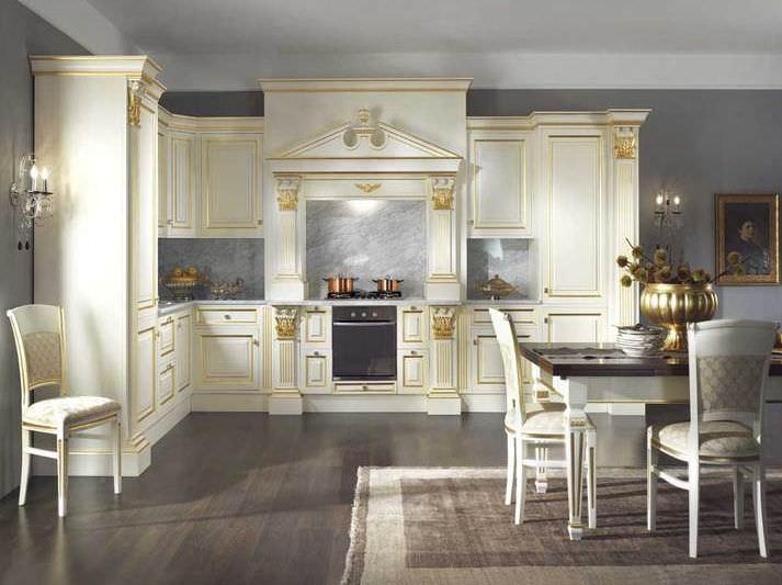 Cucina in stile / in legno / laccata / con impugnature - SOFIA ...