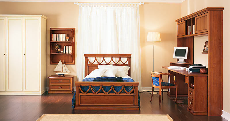 Letto singolo classico in legno pitti pitti charm homes
