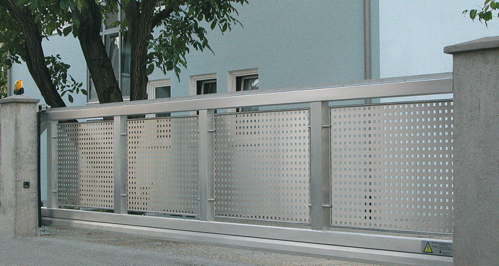 Famoso Cancelli scorrevoli / in alluminio / a pannello / professionali  QE63