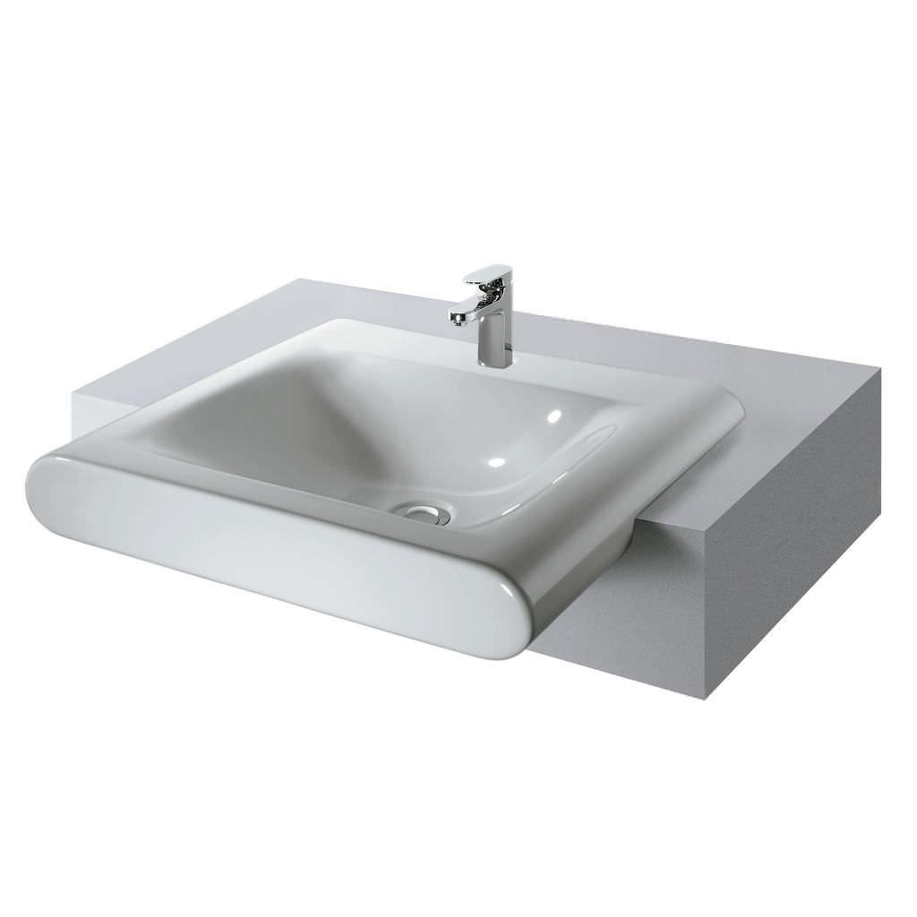 Lavabi Ad Incasso Ideal Standard.Lavabo Da Incasso Rettangolare Moderno Con Piano Integrato