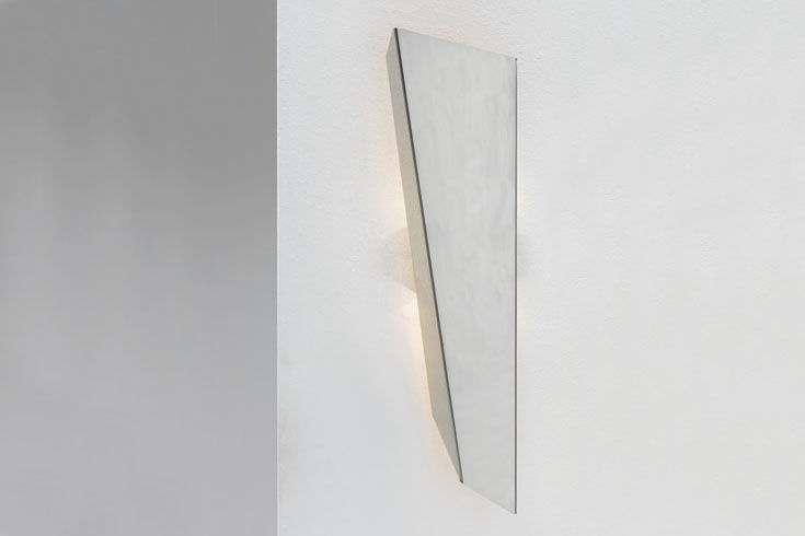 Applique design originale in metallo alogena nera wright