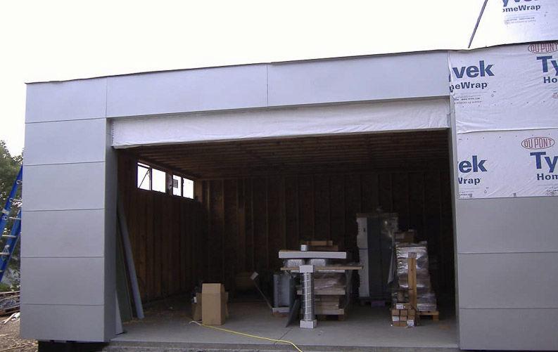 Edificio prefabbricato / per garage / in legno / moderno   lvg ...
