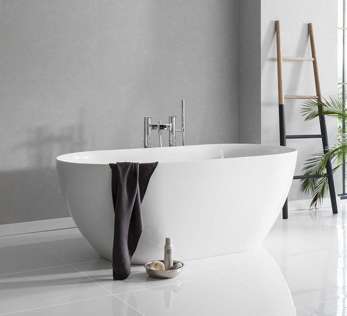 Vasca da bagno da appoggio / ovale / in pietra naturale / in ...