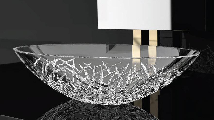 Lavabo da appoggio / ovale / in cristallo / moderno - ICE OVAL ...