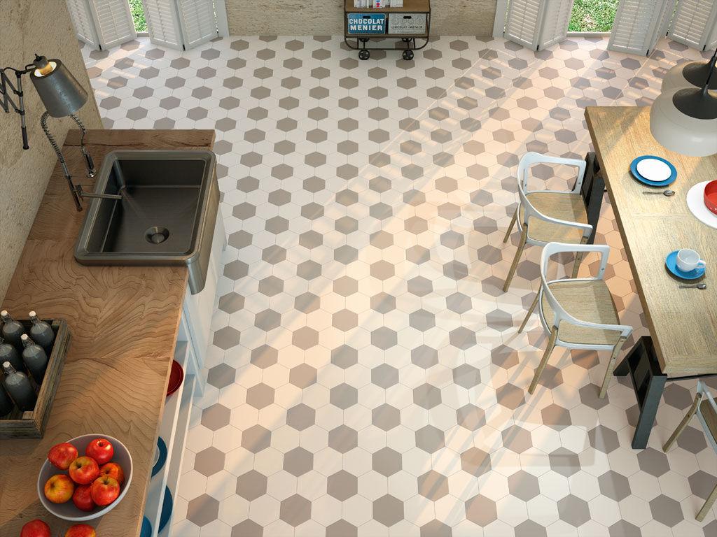 Piastrella esagonale da bagno da cucina da pavimento hexagon