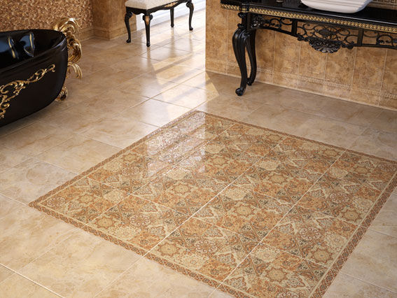 Piastrella da interno da pavimento in ceramica lucida