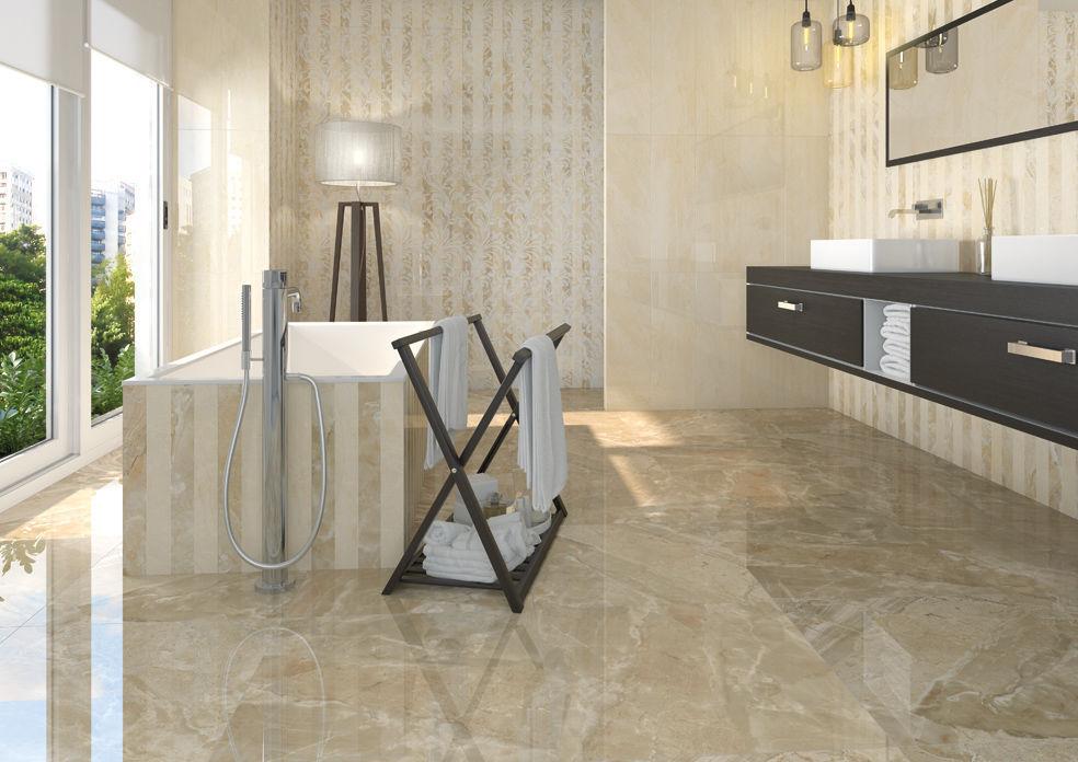 Piastrella da bagno da pavimento in gres porcellanato