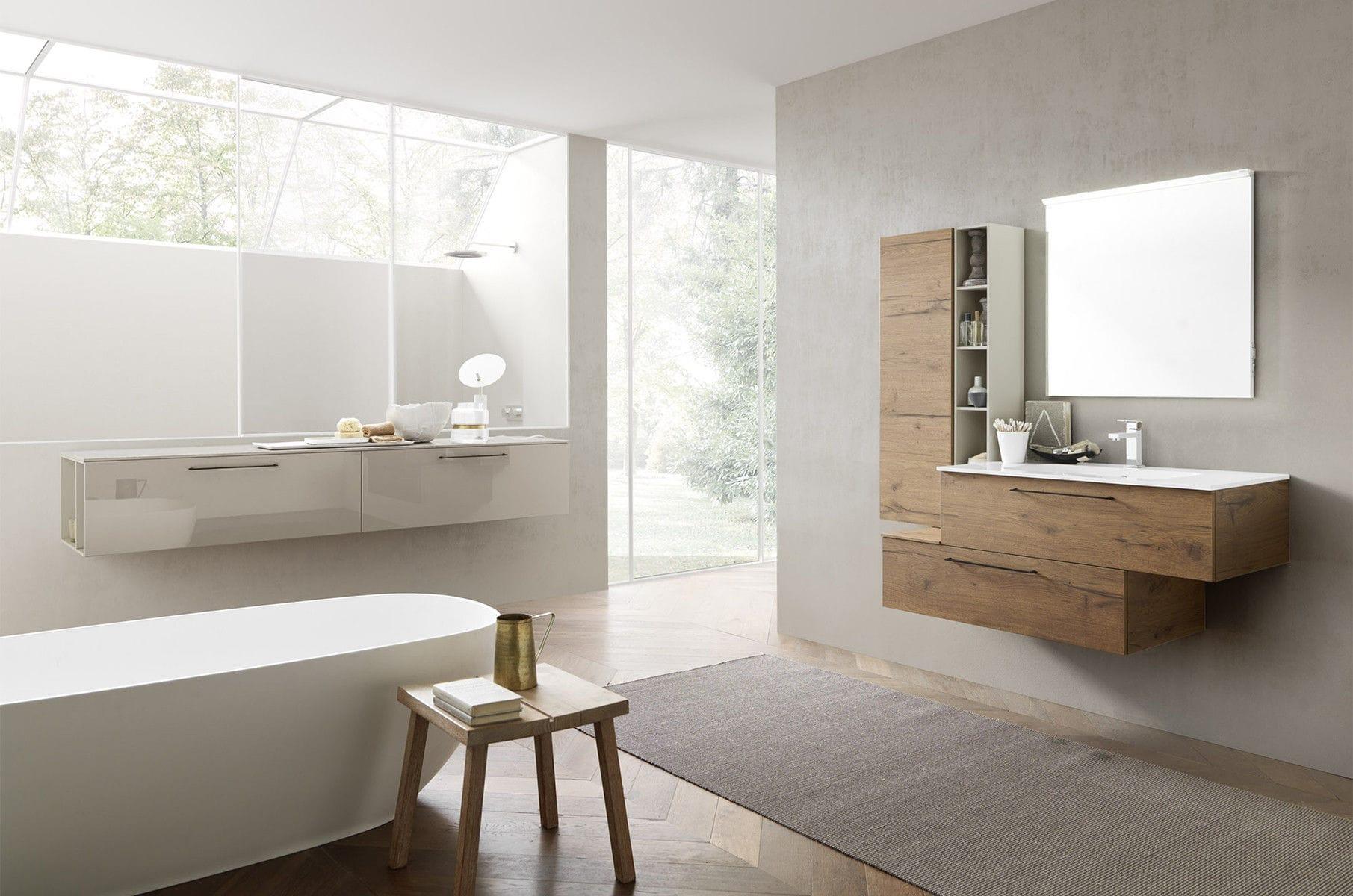 Bagno moderno in ceramica in legno in melamminico