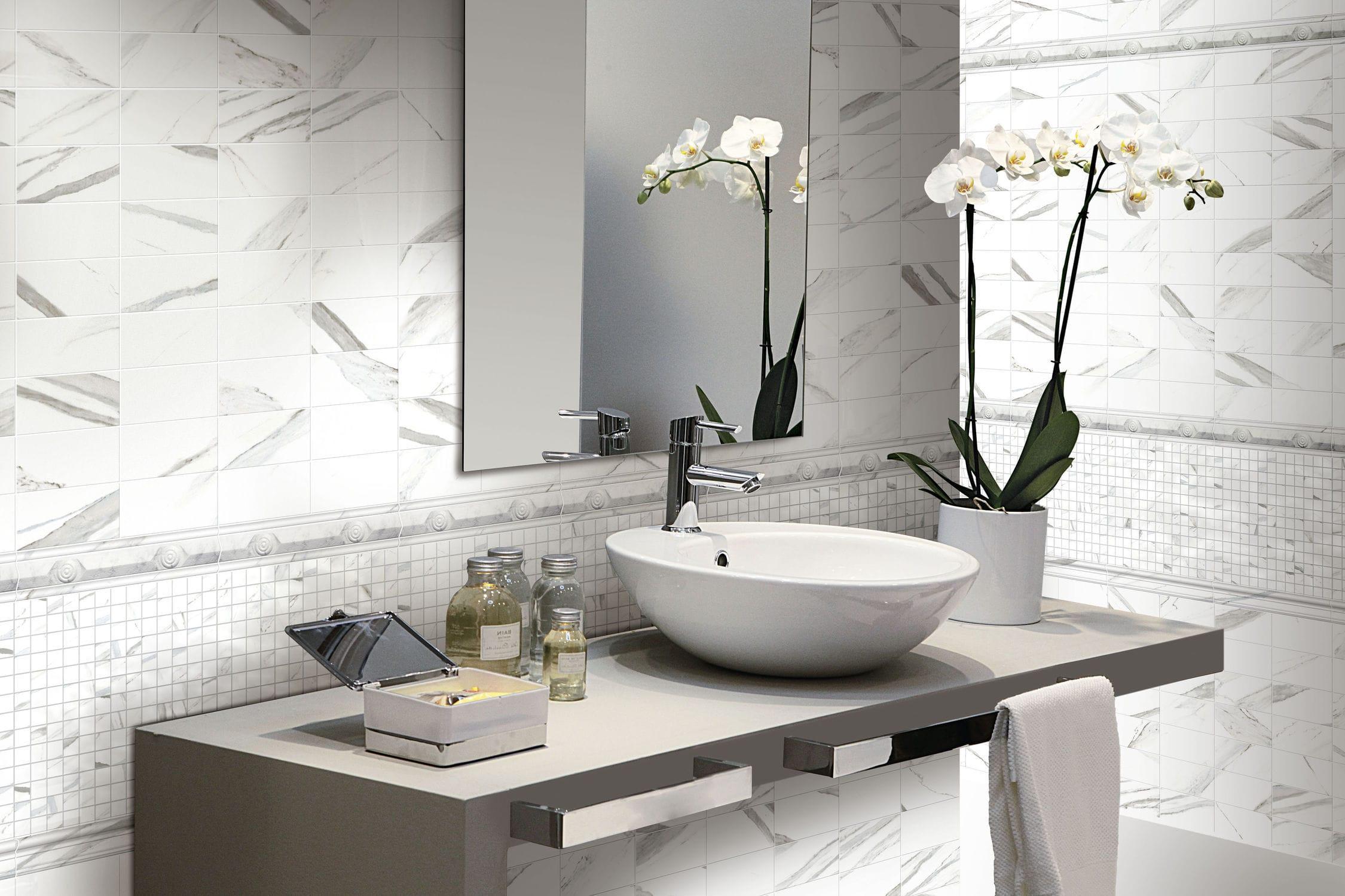 Bagno gres effetto marmo. free piccolo ma elegante bagno che