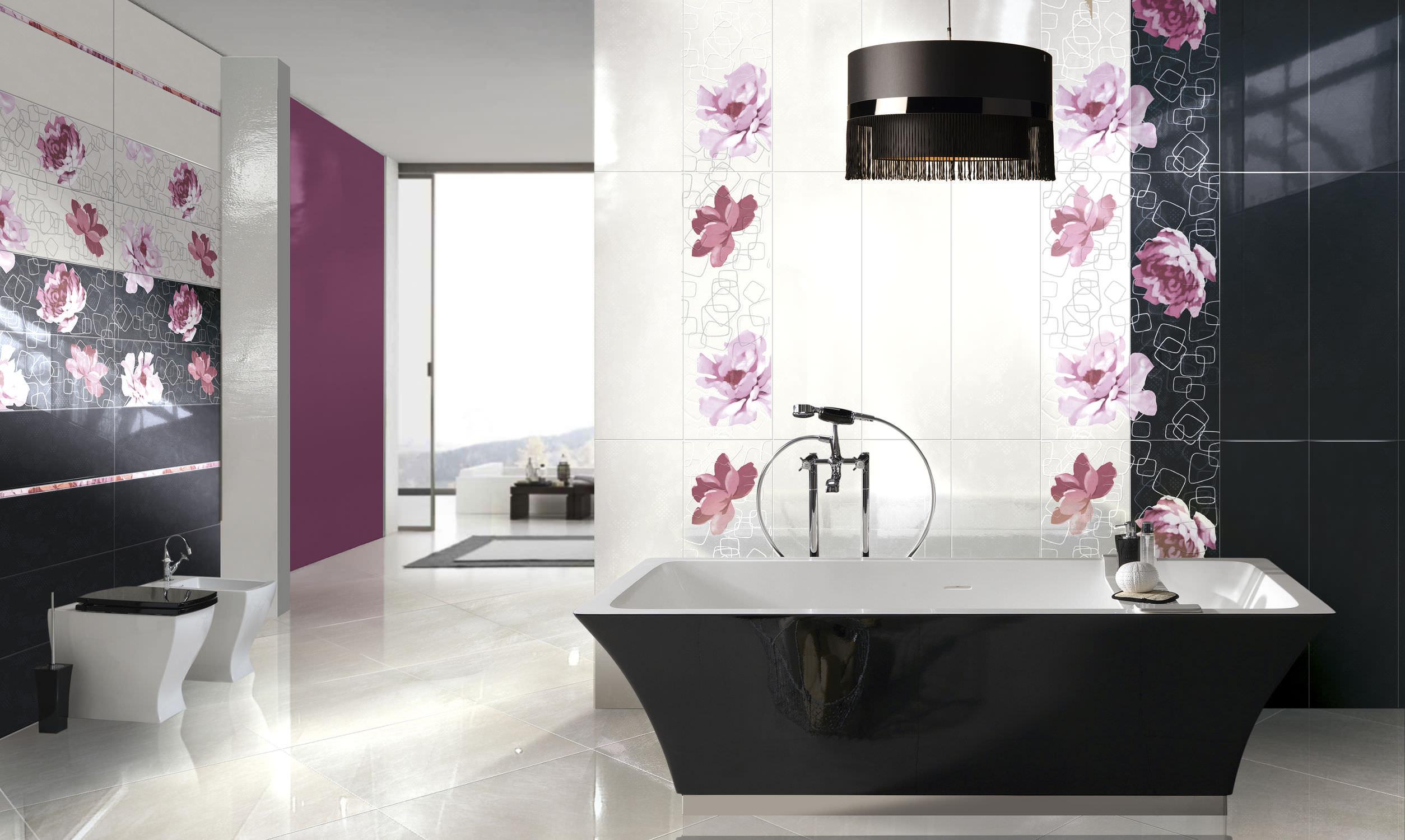 Piastrella da bagno da pavimento in gres porcellanato a tinta