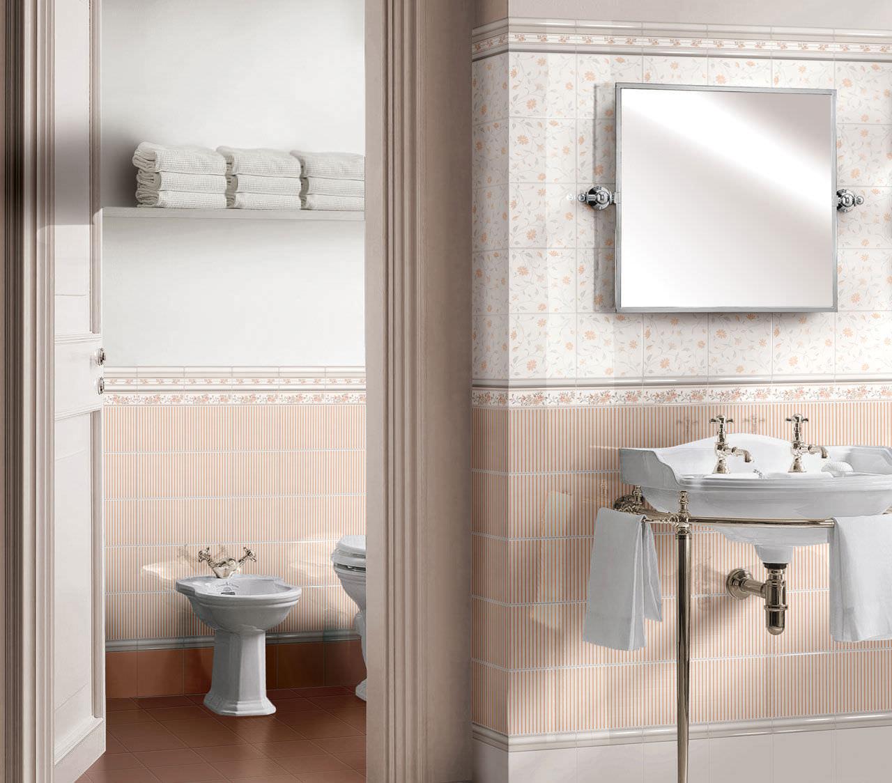 piastrella da bagno da parete per pavimento in gres porcellanato ricordi romantica brennero