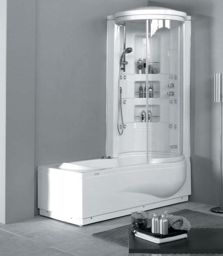 Vasca da bagno doccia da incasso / d\'angolo / in acrilico - STAR BOX ...