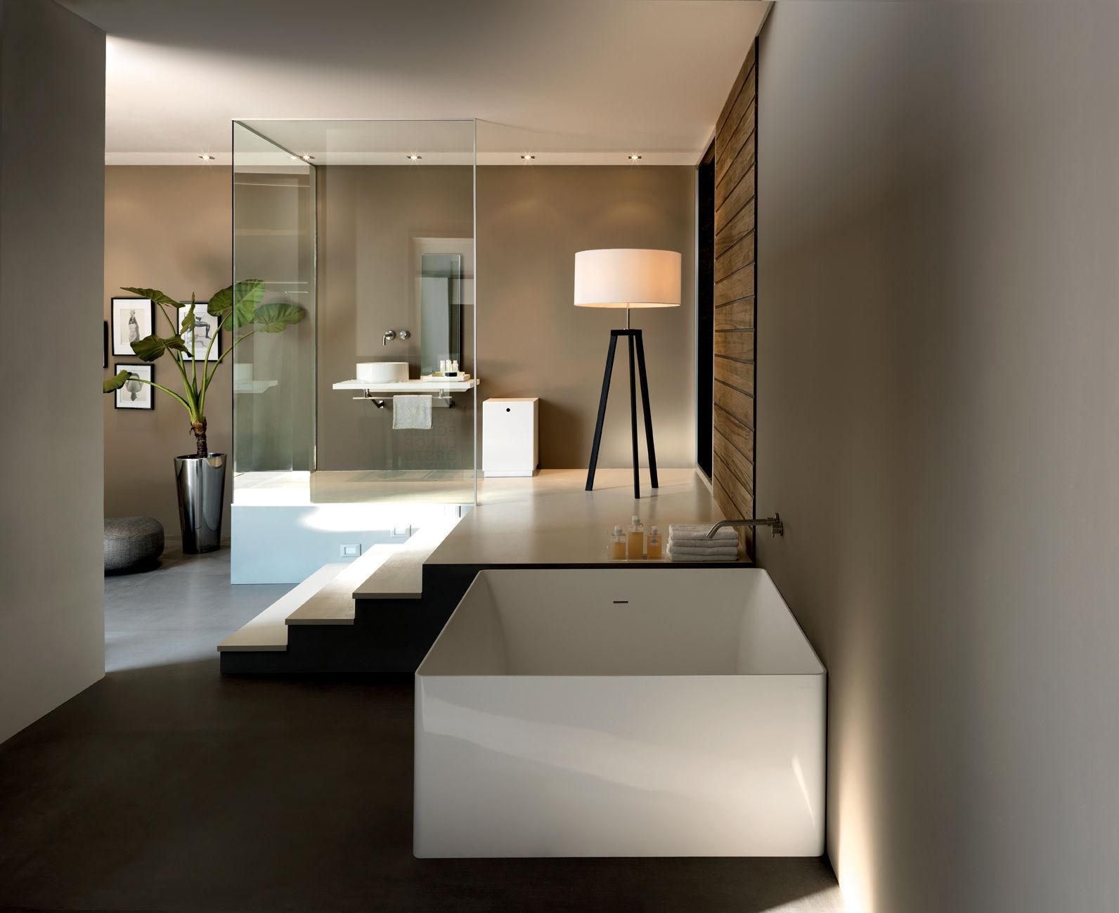 vasca da bagno quadrata in acrilico dual
