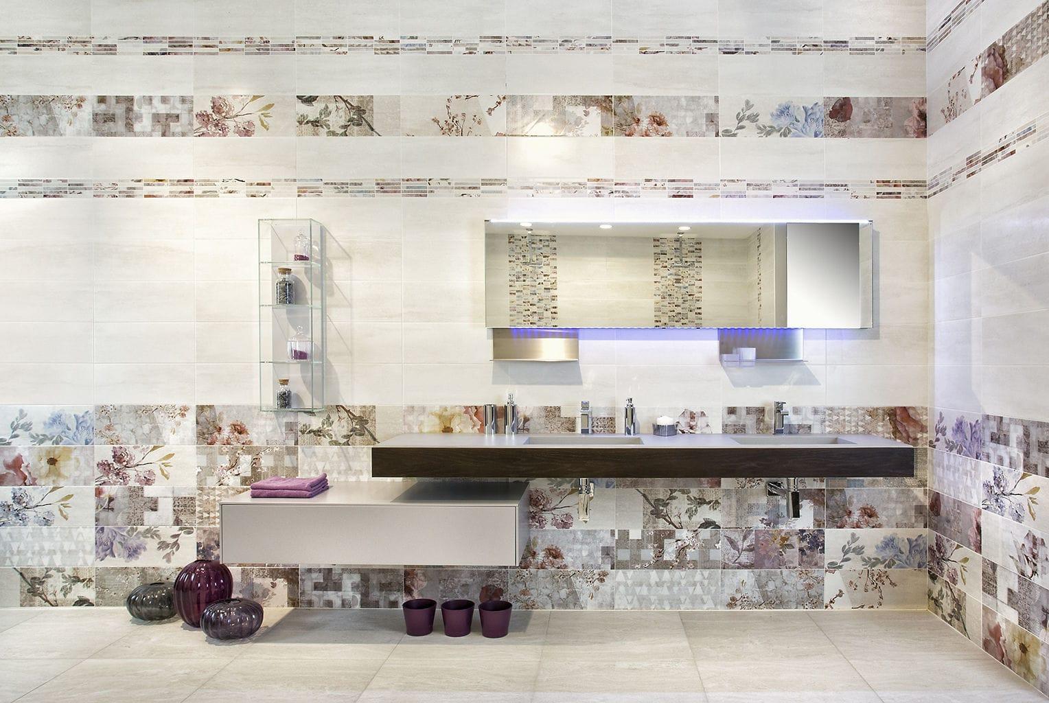 Piastrella da bagno / da parete / in gres porcellanato / a motivi ...