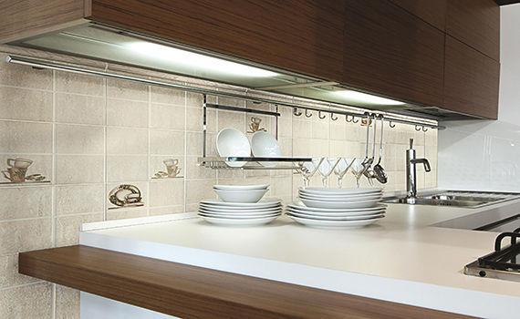 Piastrella da cucina da parete in ceramica opaca arena