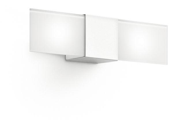 Applique moderna in ottone led rettangolare ciari