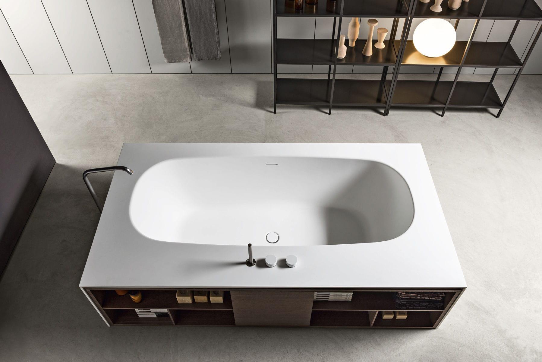 Vasca Da Bagno Makro Prezzi : Vasca da bagno da appoggio in solid surface in legno open
