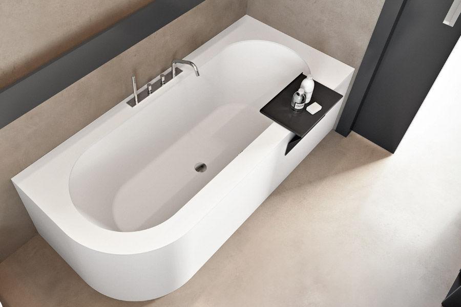 Vasca Da Bagno Resina : Vasca da bagno ovale in corian in resina in marmo