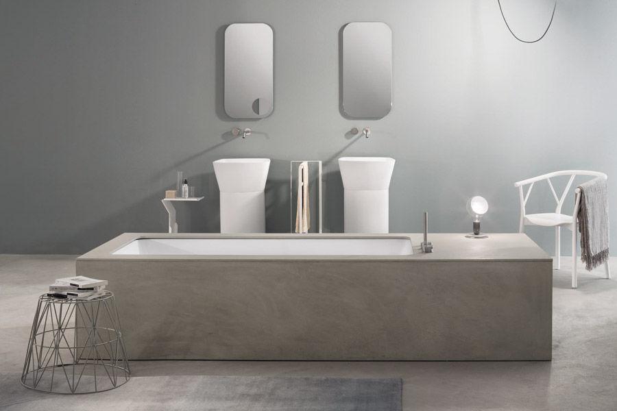 Rivestimento In Legno Per Vasca Da Bagno : Vasca da bagno in corian® in resina in marmo in legno wave