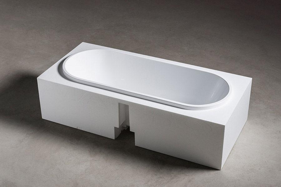 Vasca Da Bagno Makro Prezzi : Vasca da bagno ovale in corian in resina in marmo street