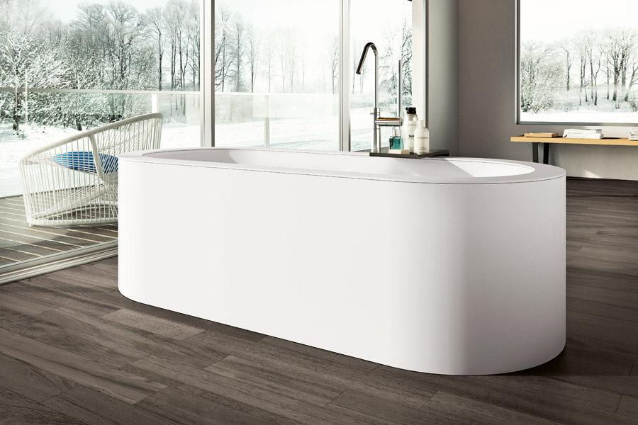 Vasca Da Bagno Sottopiano : Vasca da bagno ovale in acrilico in polistirene espanso per