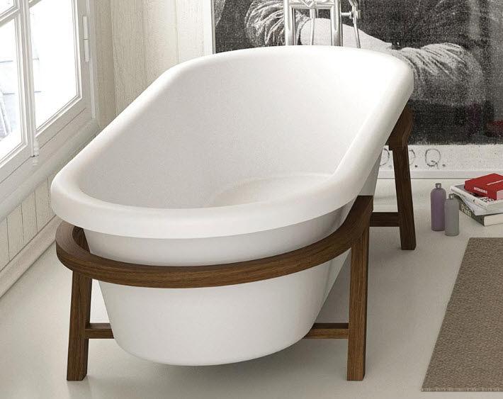 Vasca Da Bagno In Corian Prezzi : Vasca da bagno su piedi ovale in corian® provence moma
