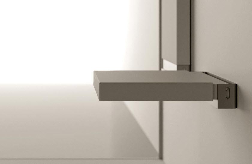 Sedile Doccia Legno : Sedile per doccia ribaltabile da parete in corian contract