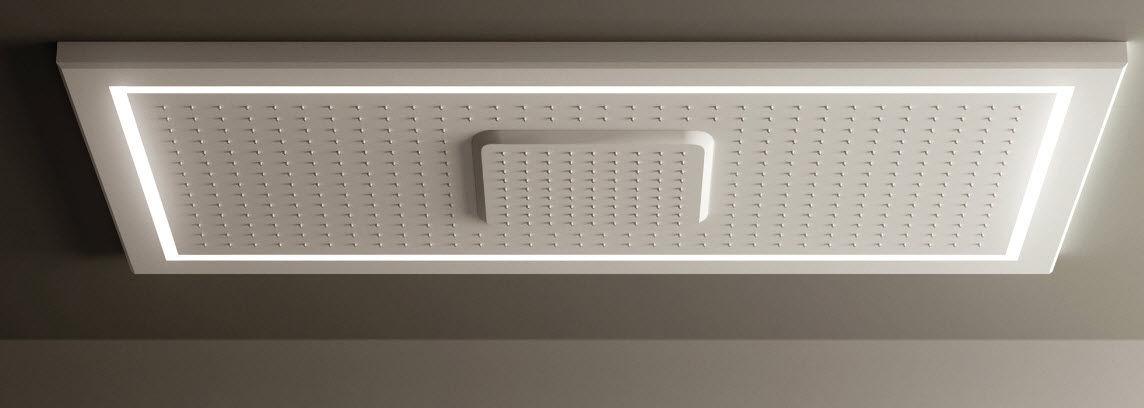 soffione doccia da incasso a soffitto / rettangolare / con ... - Illuminazione Doccia Con Led